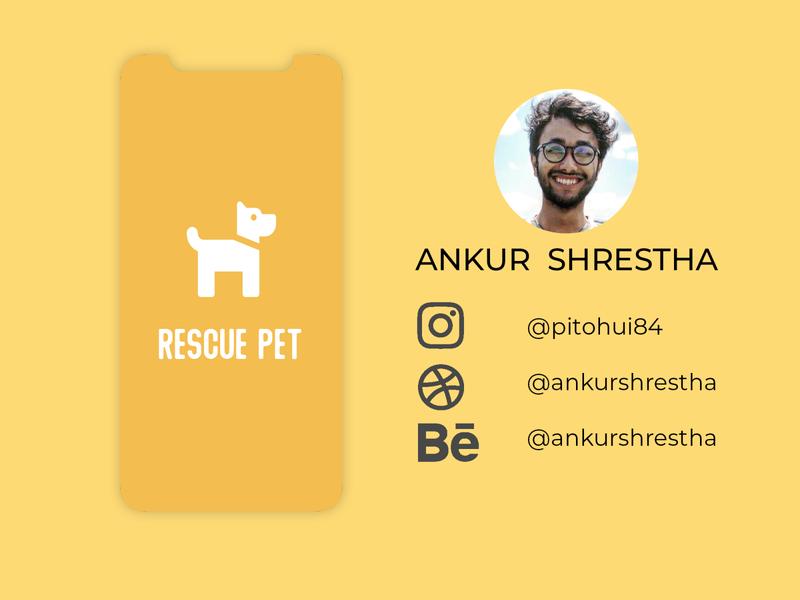 Rescue Pet branding rescue pets ux design mobile app design ui ux ui design