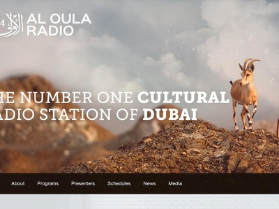 A cultural radio station in #Dubai dubai radio web design webdesign