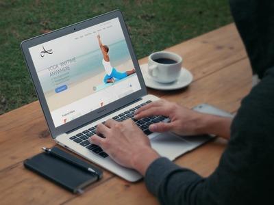AnessaYoga dubai web app ux web design yoga website