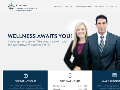 Azzolino Chiropractic Neurology & Integrative Wellness dubai digital agency dubai corporate website chiropractic azzolino web design website