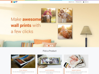 RiotPhotoBooks bespoke design web development user experience web design website