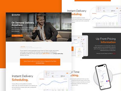 Website for a food delivery service ui ux digital agency web development design website web design