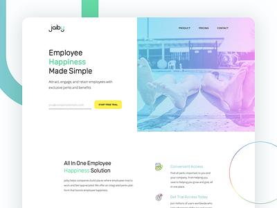 Jaiby, corporate loyalty program product design web design