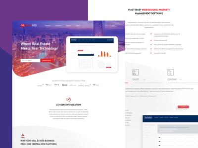 Masterkey Real Estate Software web ui website redesign web design website