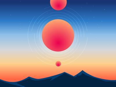 Esoteric Sunset illustration vector design