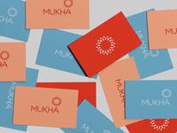 Mukha | Organic premium teas from the world world tea concept logo branding design