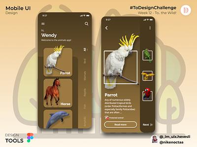 Notion   to the wild dribbble ux designer ux design uiinspiration user interface design uidesign uiux animals figma design app ux ui design app