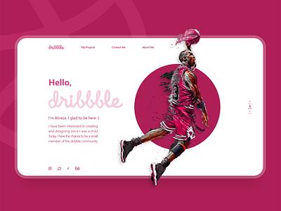 Hello Dribbble dribbble web design hello dribbble hello vector flat web ui ux ui