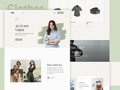 Clothes Shop Concept clothes shop clothes outfit clothe design web design web ui ux ui
