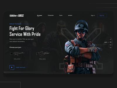 rainbow landing page (2) website design webdesign game gaming design web design web ui ux ui