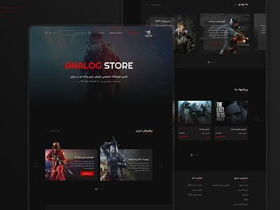 Game Store gamer shop store gaming website games webdesign gaming game design web design web ui ux ui