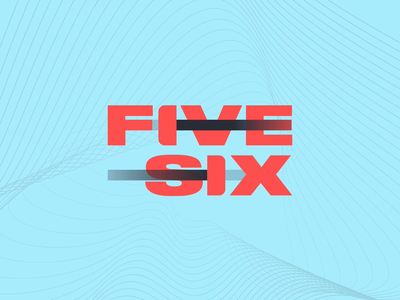 FiveSix: Vertical Wordmark Animation