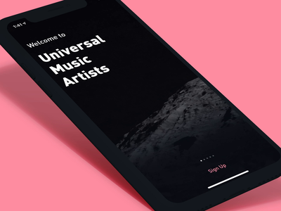 Universal Music Artists: Welcome analytics data visualization data transitions animation ux product design product mobile ui visual design dark ui carousel welcome onboarding fans artists universal music artists universal music group universal