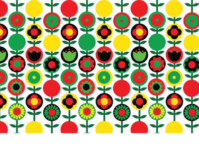 PROJECT  1960 S PATTERN DESIGN FOR CUSION 02 pattern bold colors adobe illustrator basic shapes floral design pattern design vector art design