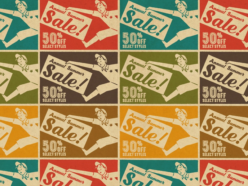 Summer Sale (Goorin Bros.) absurdity mystery history graphic design graphic 50s california tried-and-true heritage americana ephemera vintage identity branding lettering typography illustration
