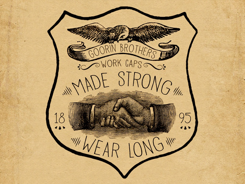 Made Strong Wear Long Patch graphic design work wear absurdity mystery history graphic patch work caps tried-and-true heritage americana ephemera vintage identity branding lettering typography illustration