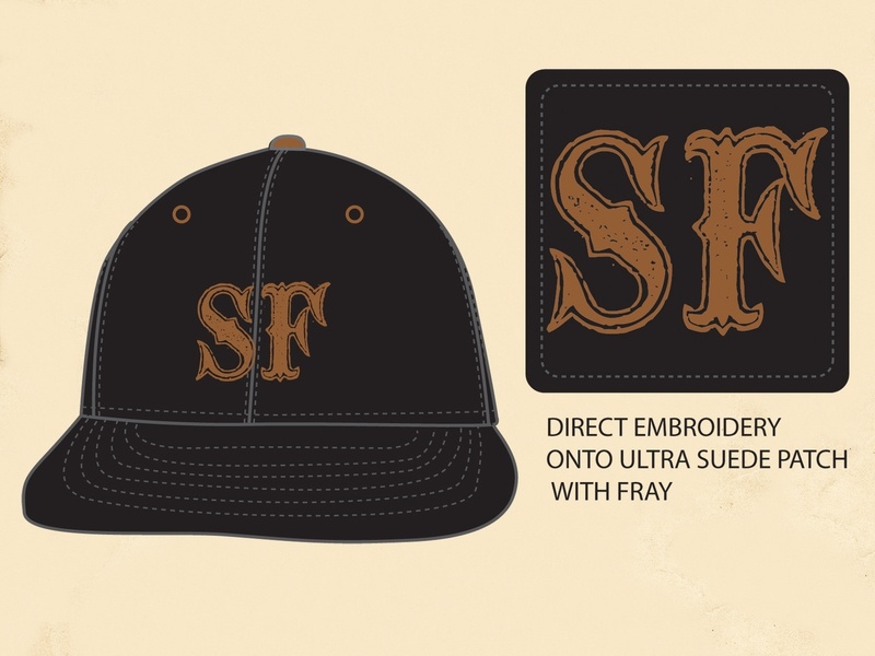 SF Wool Ball Cap wool ansurdity mystery history san francisco sf baseball ball cap tried and true heritage ephemera americana vintage identity branding lettering typography graphic design graphic illustration