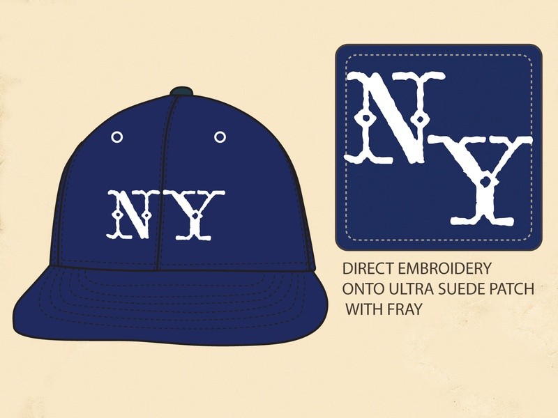 NY Wool Ball Cap absurdity mystery history wool new york ny baseball ball cap tried and true heritage ephemera americana vintage identity branding lettering typography graphic design graphic illustration