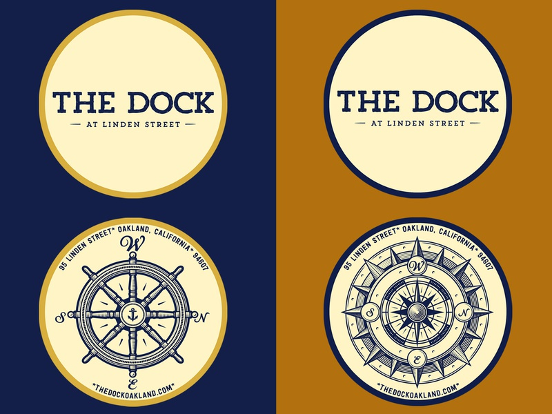 The Dock (Oakland, CA) oakland restaurant wharf logo seafarer tap room pub nautical tried-and-true heritage americana ephemera vintage identity branding lettering typography graphic graphic design illustration