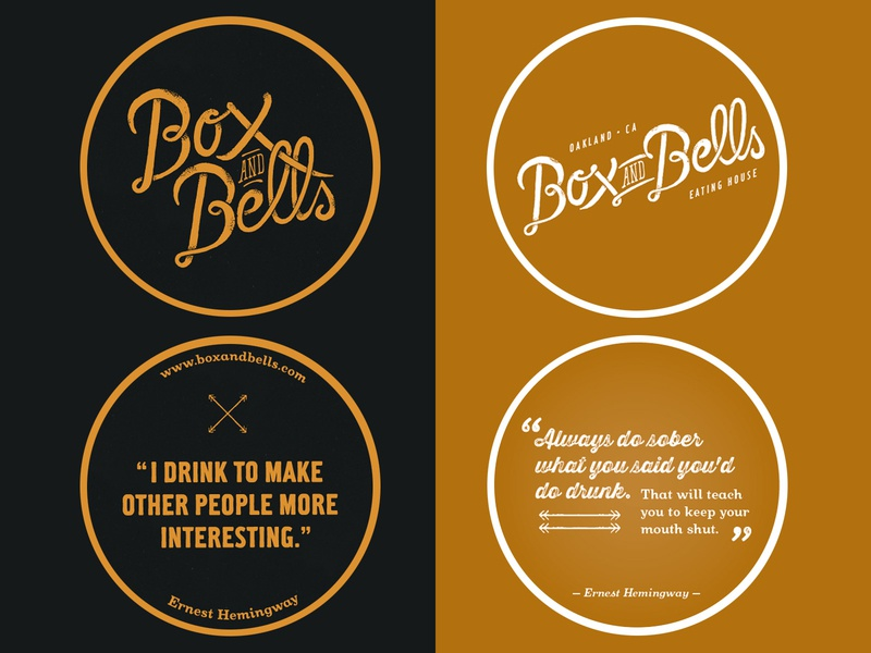 Box and Bells Eating House (Oakland, CA) oakland wharf vintage typography tried-and-true tap room seafarer restaurant pub nautical logo lettering illustration identity heritage graphic design graphic ephemera branding americana