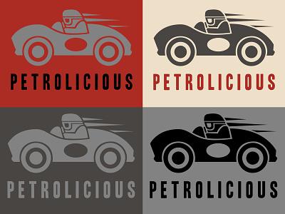 Petrolicious Logo icon design hot rod car culture cars heritage vintage identity branding lettering typography graphic design graphic illustration logo