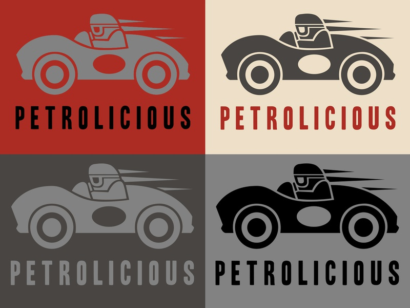Petrolicious Logo icon design hot rod car culture cars heritage vintage identity branding lettering typography graphic design graphic illustration logo