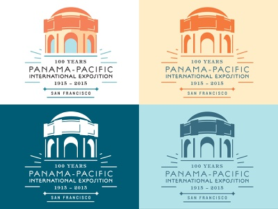 PPIE Centennial Logo (California Historical Society) ppie exposition palace of fine arts panama pacific california san francisco tradition history heritage ephemera vintage identity branding graphic design typography illustration logo