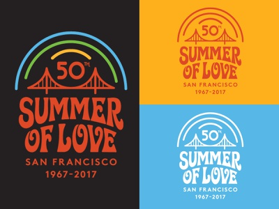 SOL 50th Anniversary Logo (California Historical Society) summer of love illustration san francisco psychedelic pot logo identity graphic design branding 60s golden gate park lsd love peace hippies