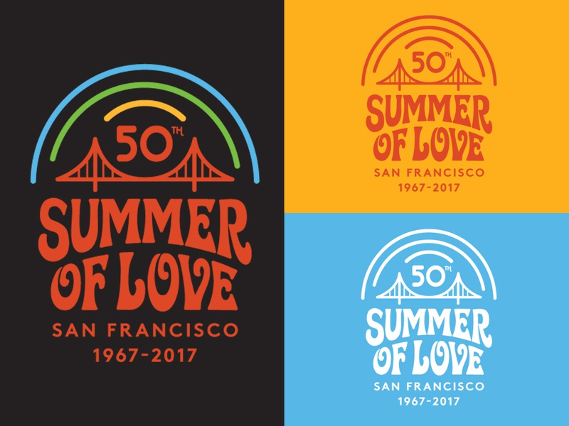 SOL 50th anniversary logo (California Historical Society) illustration san francisco psychedelic pot logo identity graphic design branding 60s golden gate park lsd love peace hippies