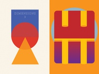 Dimensions 3 (California Historical Society) color geometric abstract california printers writers artists graphic design art publication prints colors shapes printmaking san francisco lee paper company dimensions risoprint letterpress risograph