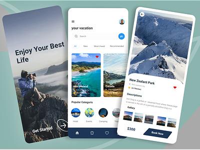 Travel App popular app popular popular short top app vacation tour mobile ui app mobile app design mobile deign travel app traveling travel agency travel