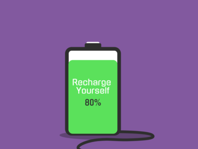 Recharge Yourself vector illustration flat illustration flat design flat flatdesign design artwork art animation