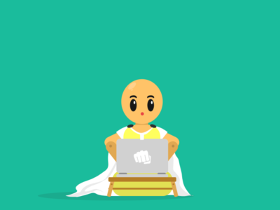 SAITAMA!! vector illustration flat illustration flat design flatdesign design artwork art animation
