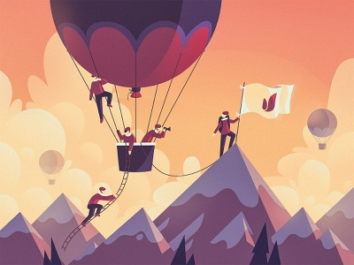On The Way To The Peak concept vector dribbble art fireart fireart studio illustration