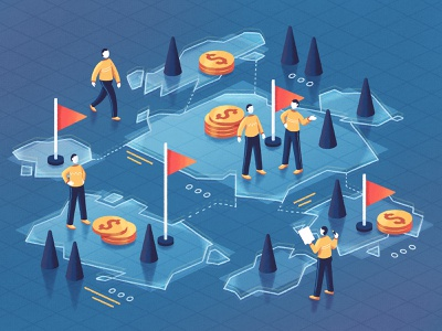 Best Countries to Outsource Software Development dribbble fireart studio fireart illustration