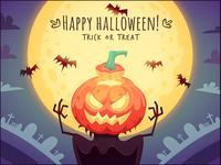 Happy Halloween Pumpkin Scarecrow