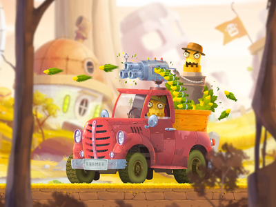 Farm Boss fireart studio fireart illustration vehicle boss farm character game art