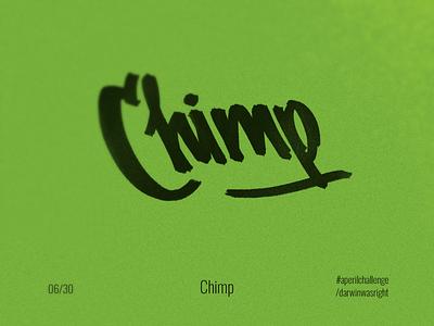 Chimp #aperilchallenge 06/30 caligraphy letters marker sketch smile invite giveaway мавпа шимпанзе леттерінг lettering cute simple face bonobo hello dribble creative logo chimp smart logo monkey gorilla ape