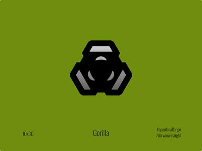 Gorilla #aperilchallenge 10/30 logomark mark logo invite giveaway gorilla hello dribble smart logo monkey ape