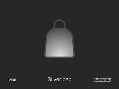 Silver bag #aperilchallenge 12/30 invite giveaway simple bonobo pack backpack bag chimp gorilla hello dribble smart logo monkey ape