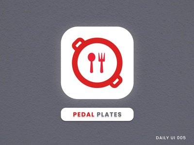 Pedal Plates - Icon For  a Food Delivery App branding art dribbble invite designers iconography icons icon icon set icon design dribbble best shot ui ux typography app