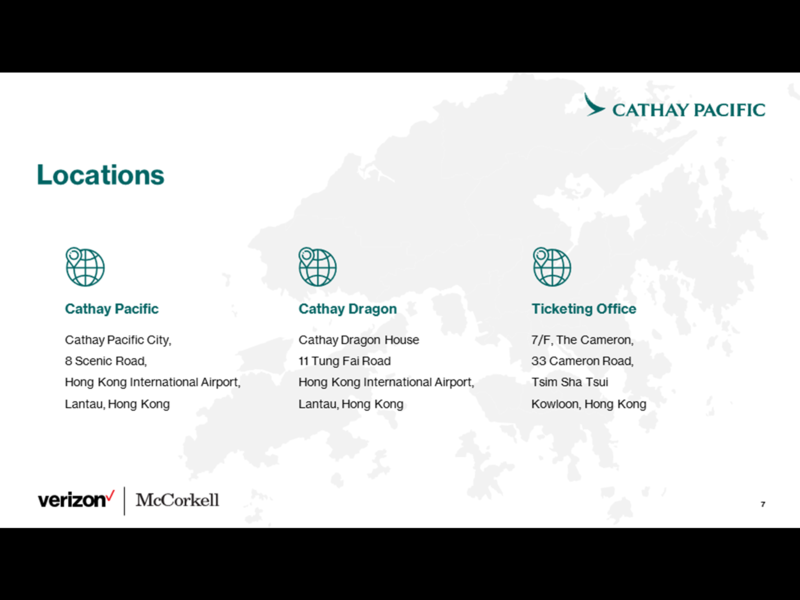 Verizon - Cathay Pacific Profiling Deck Template powerpoint powerpoint design powerpoint presentation powerpoint template graphic design