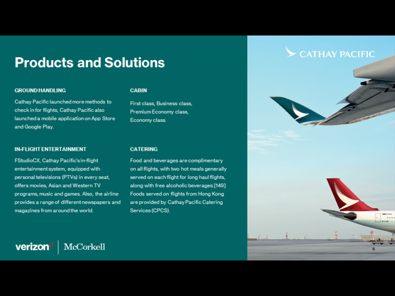 Verizon - Cathay Pacific Profiling Deck Template powerpoint powerpoint template powerpoint presentation powerpoint design graphic design