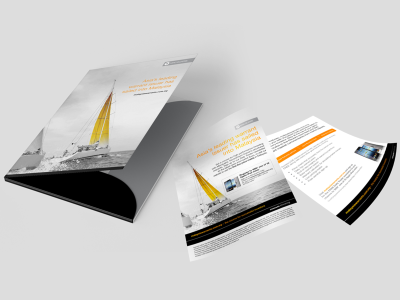 Macquarie Malaysia Folder and Flyer Design concept design folder design graphic design