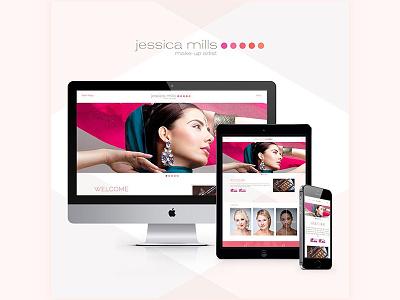 Jessica Mills Make up branding redesign beauty website