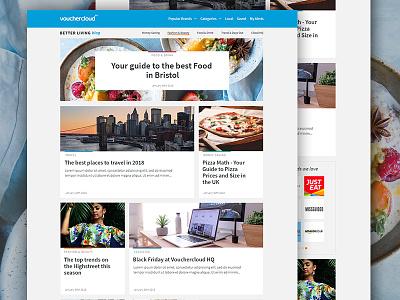 Vouchercloud Blog Design blog imagery web design design graphic web