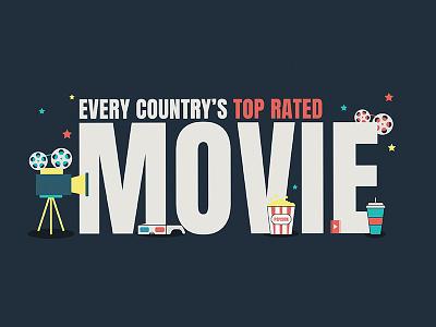 Movie Typography graphic illutration typography movie film