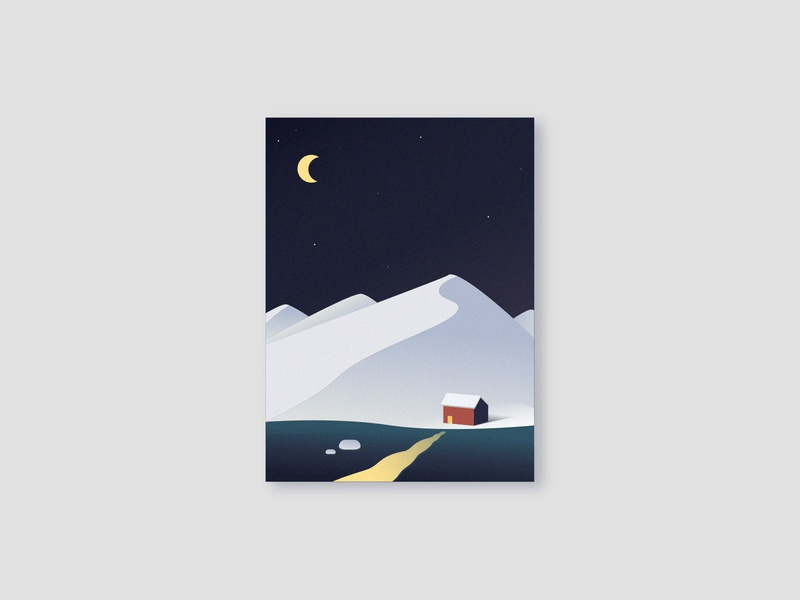 snow mountain vector illustrator illustration design
