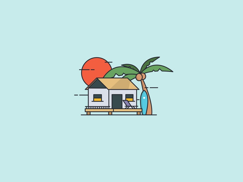 palm tree vector illustrator illustration design