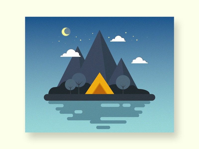 campsite vector illustrator illustration design